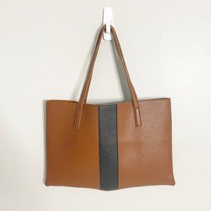 Vince Camuto Brown Luck Vegan Leather Tote